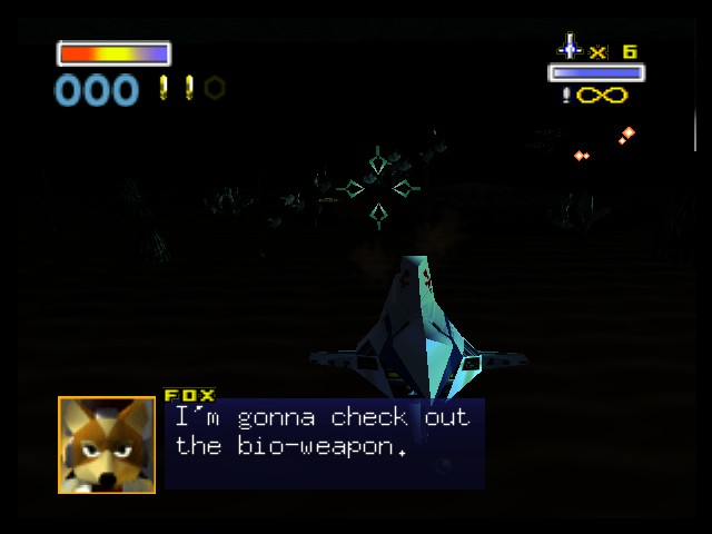 Star Fox 64 - infinite bombs in this level, all else sucks - User Screenshot